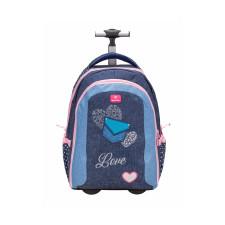 Рюкзак на колесах Easy-Go Jeans Love