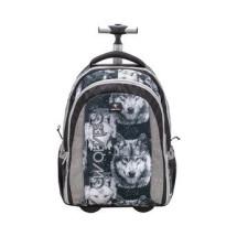 Рюкзак на колесах Easy-Go Wolves Grey