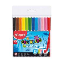 Фломастеры Color'peps Ocean, 12 цв.